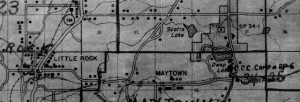 1940 Enumeration District Map - Scotts Lake